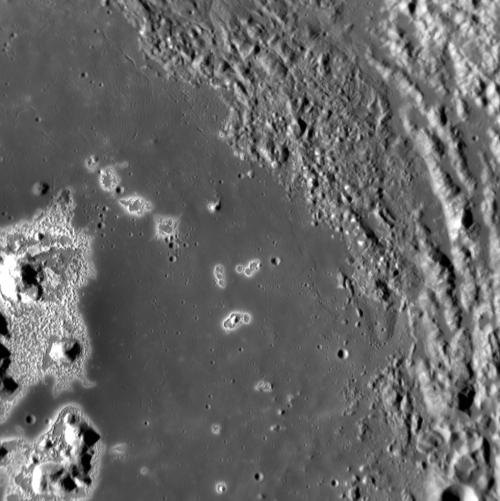 MESSENGER targeted-observation image of the interior of Eminescu crater.