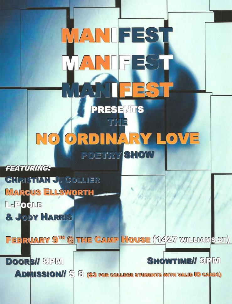 Manifest's No Ordinary Love Poetry Show