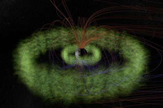 """Artists impression of the invisible Van Allen radiation belts."" Credit: NASA"