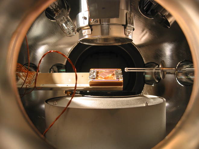Ion trap apparatus. Image: Hartmut Häffner Source: Wired