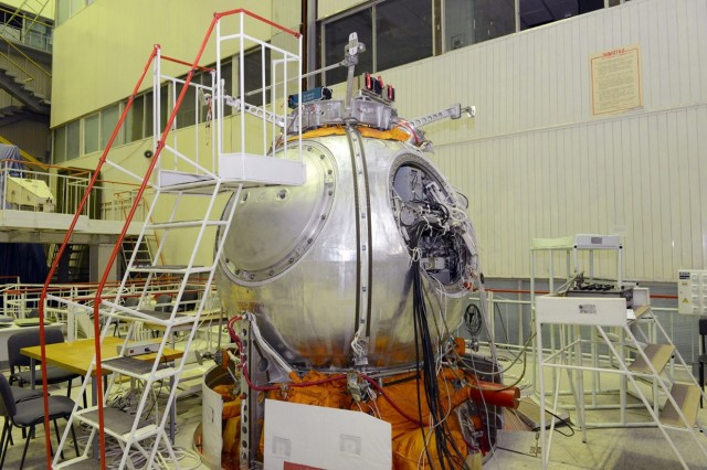 """The mission's Bion-M life sciences satellite being prepped for launch."" Photo by Russian Space Agency Source: Ars Technica"