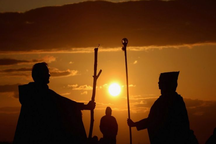 """The sun sets over Edinburgh as the annual Beltane festival prepares to get underway."" - Source: DailyRecord.co.uk"
