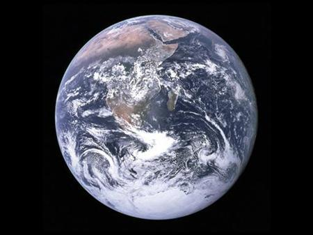 """""""NASA undated handout image shows an image of the earth taken from space."""" REUTERS/NASA/JHandout"""