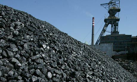 """Coal awaits transport in Katowice, Upper Silesia. According to the study, Polish coal power plants have the worst health impact in the European Union."" Photograph: Sean Gallup/Getty Images Source: Guardian"